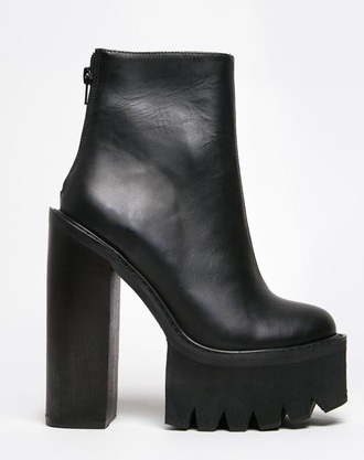 shoes chunky cleated boots