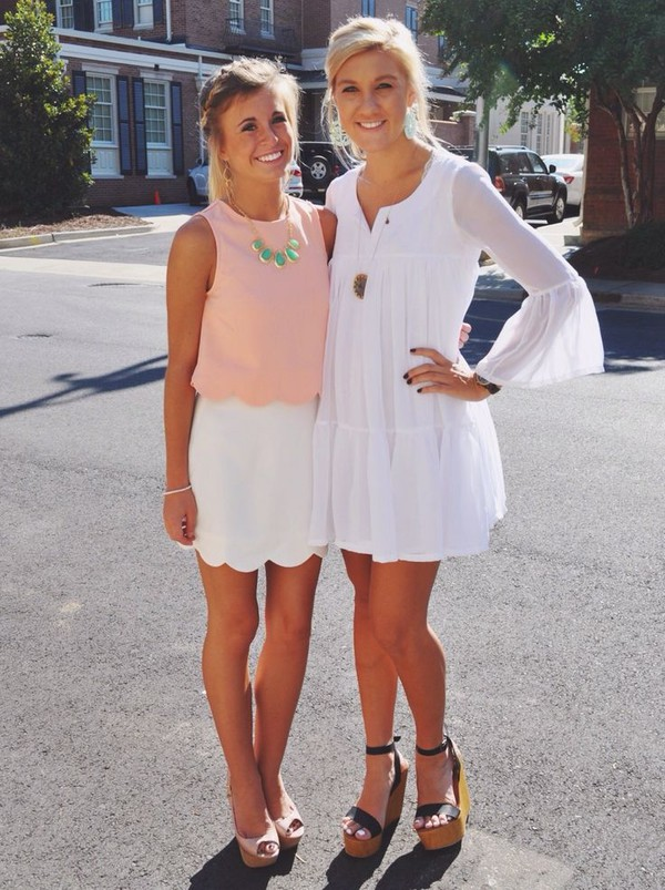 skirt clothes southern preppy classic scalloped