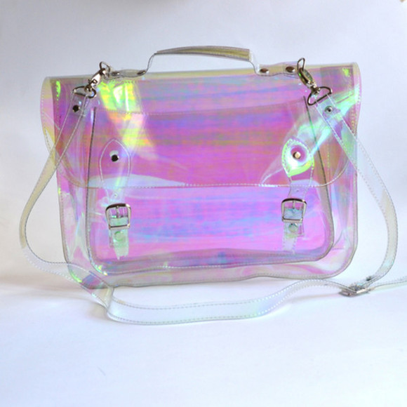 unicorn bag translucent transparent  bag see through