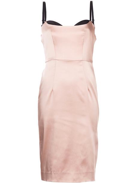 MILLY dress bustier dress women spandex purple pink