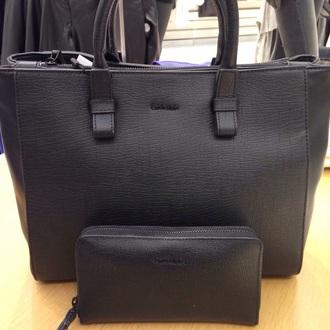 bag ck calvin klein matte black matte texture textured snake print tote bag