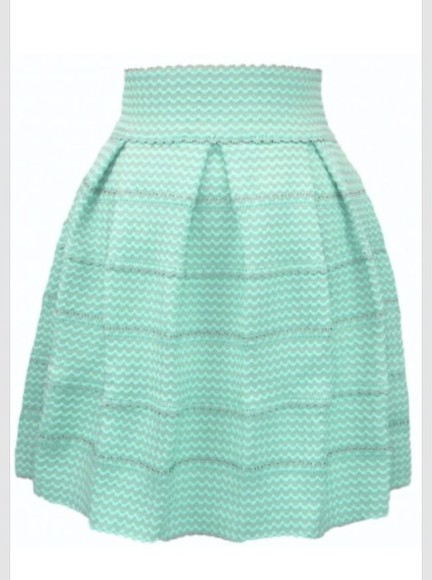 skirt mint green skirt mint
