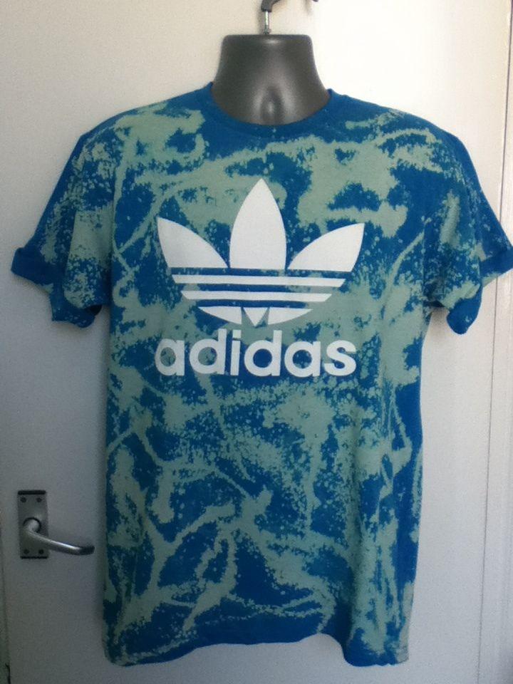 Vintage 90S ADIDAS Acid Wash Tshirt Hipster Retro Ibiza Festival Unisex XL 16 18