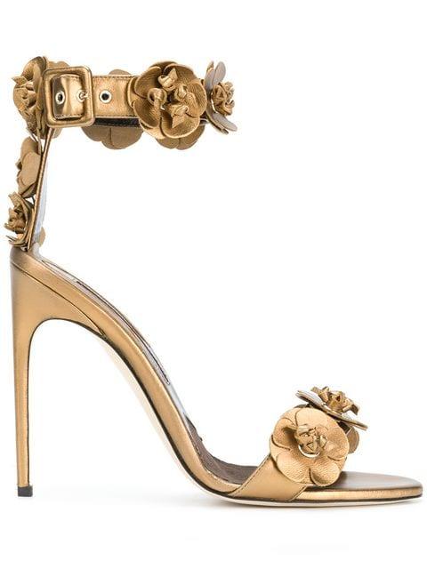 Brian Atwood 3D Flower Detail Sandals - Farfetch