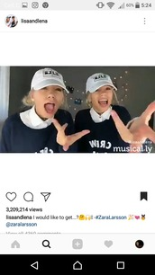 hat,sweater,navy,crew,lisa and lena,saying