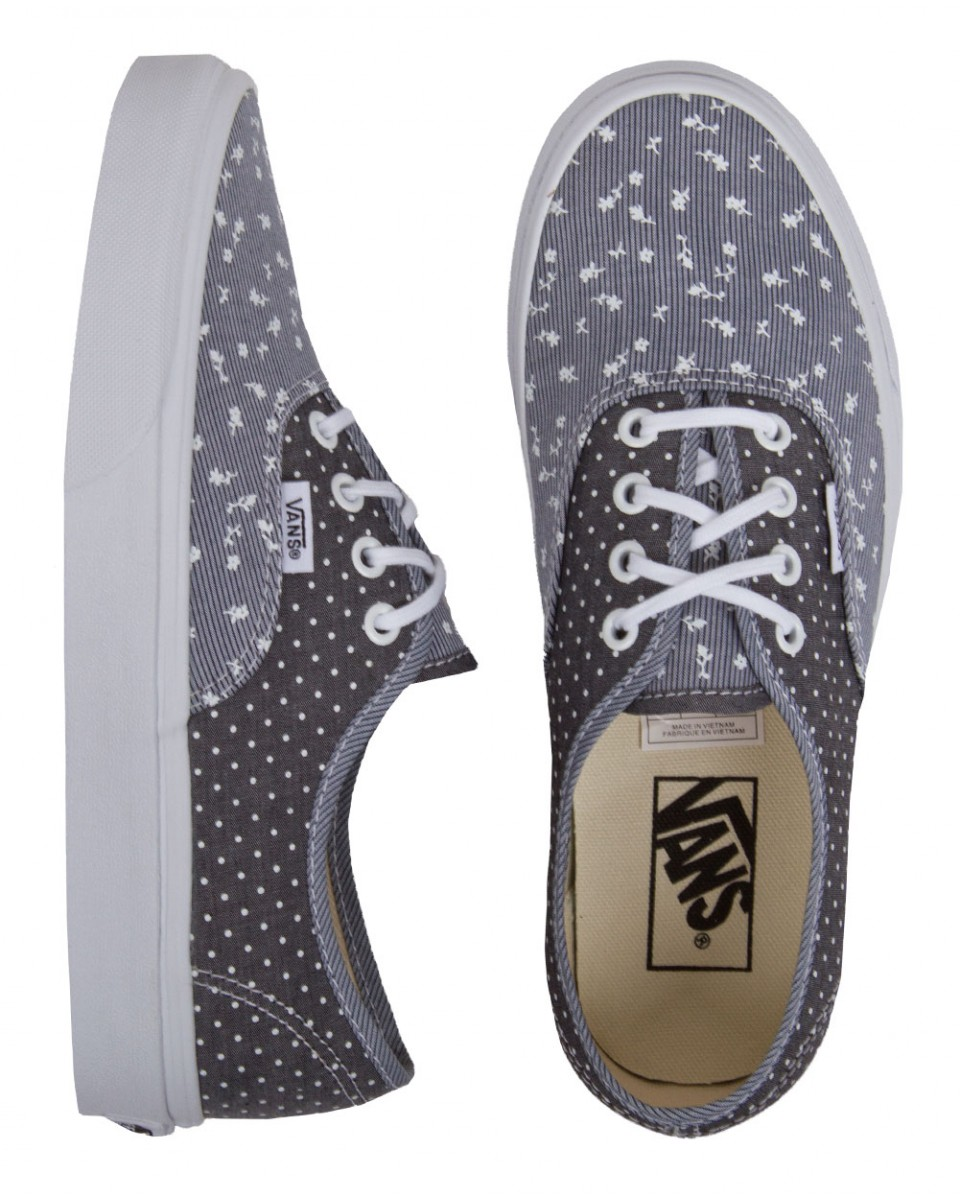 Vans authentic mixed chambray shoes