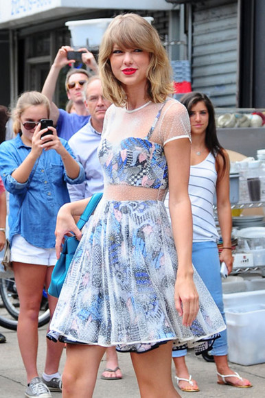 taylor swift dress two-piece see through