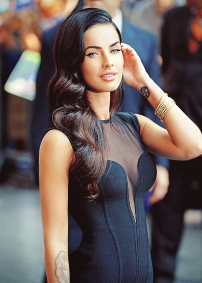 dress megan fox black little black dress