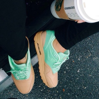 shoes tan air max mint teal sneaker nike air ugg boots teal nike nike running shoes pinterest booties sneakers nike free runs 5.0 jewels nike sneakers