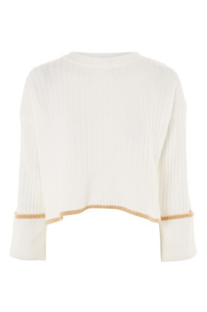 Topshop sweater cropped sweater cropped