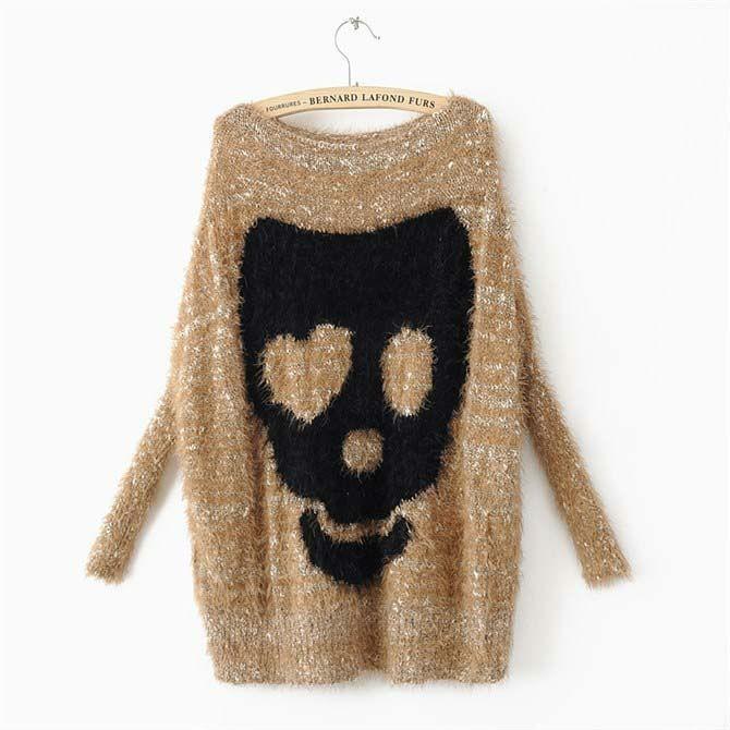 2013 одеёды свитер женщин свитер для женщин скелет свитера одеёда бесплатной доставкой w019