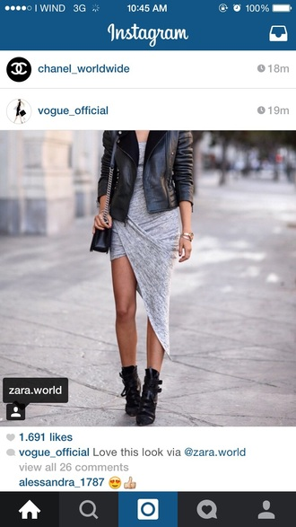 dress grey shirt dress vogue