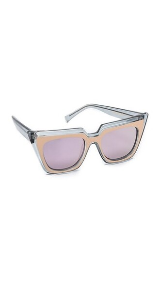 matte sunglasses pink grey blush