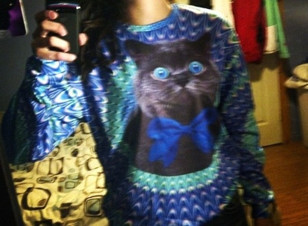 sweater cats sweatshirt crewneck