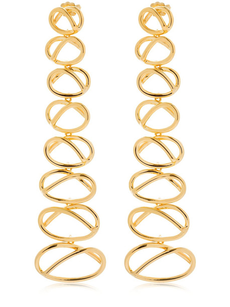 JOANNA LAURA CONSTANTINE Knot Dangling Earrings in gold