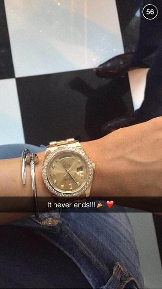 jewels kylie jenner watch gold watch