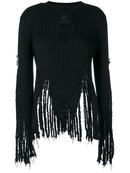 Balmain jumper women black wool sweater