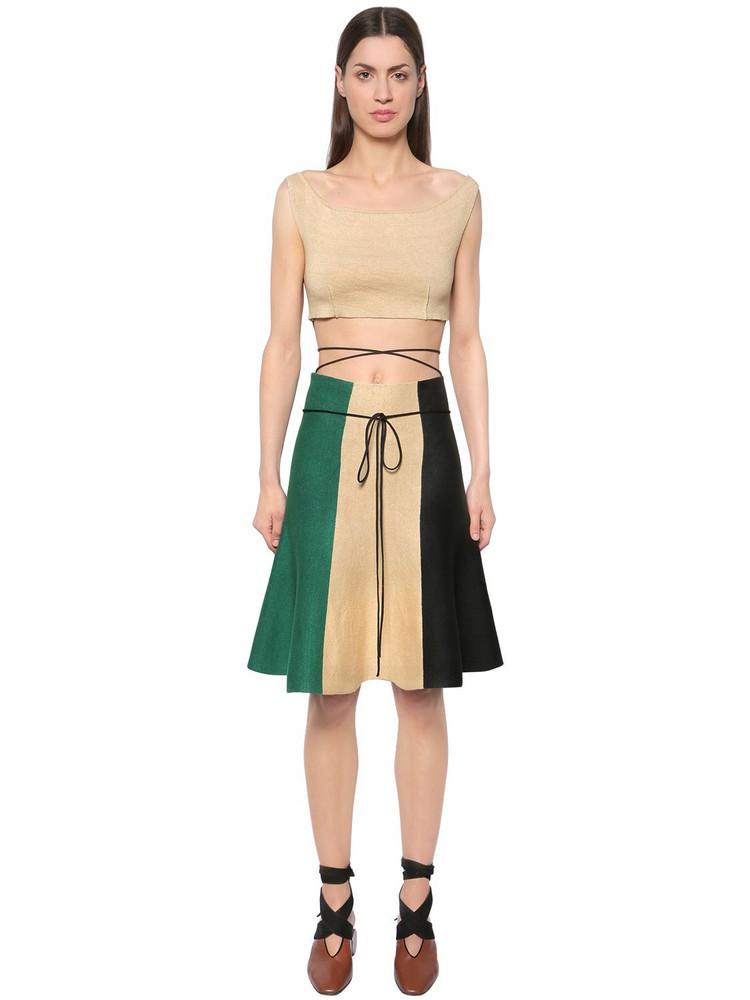 J.W.ANDERSON Linen Crop Top & Striped Skirt