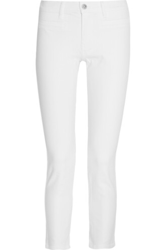 jeans skinny jeans paris cropped white