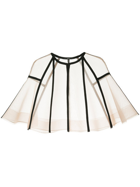 Alex Perry cape women nude top