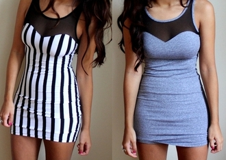 mini grey strapless dress stripped