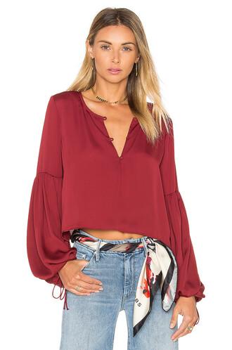 blouse burgundy top