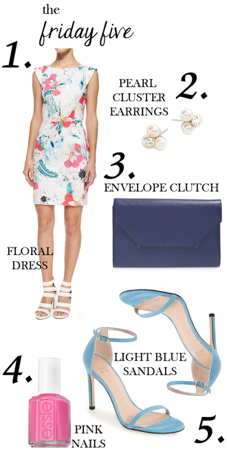 m loves m blogger floral dress sandals clutch