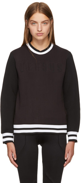 Versus sweatshirt black sweater