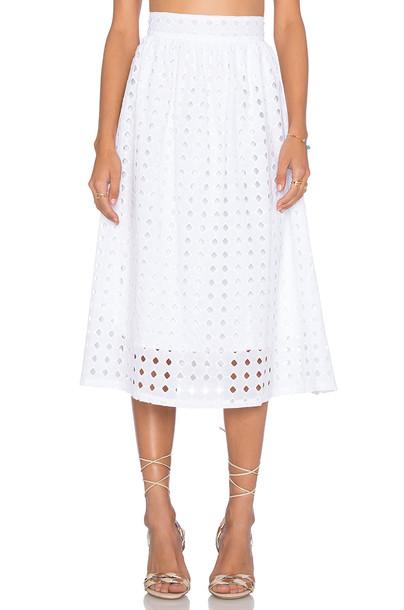 CLAYTON skirt white