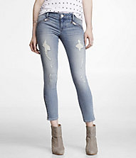 STELLA DESTROYED ANKLE ZIP JEAN LEGGING | Express