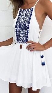 dress,greece outfit,blue,summer dress,white dress,white,blue dress,greece