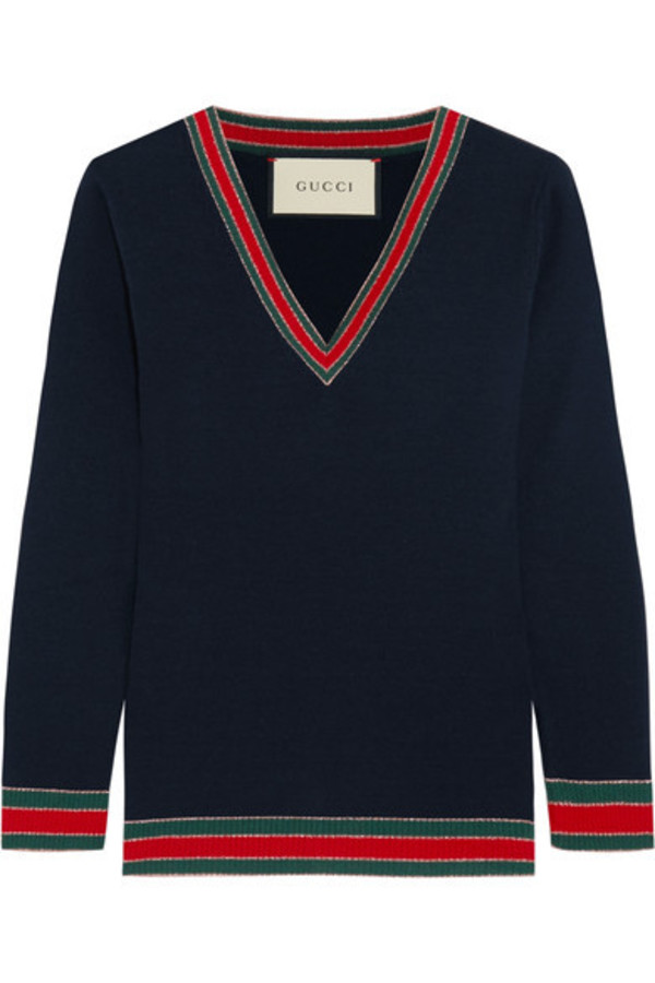 cc93a459dfd Gucci Yellow and Red Striped Puma Sweater - Wheretoget