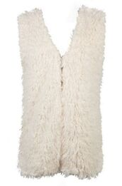 white vest,white waistcoat,white faux fur,faux fur vest,faux fur waistcoat,lined vest,lined waistcoat,teddy texture lining,www.ustrendy.com