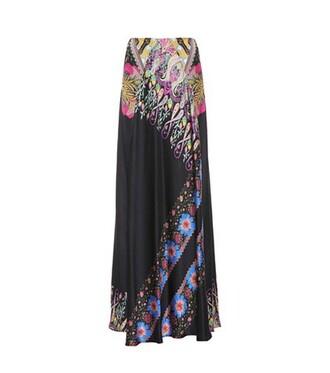 skirt maxi skirt maxi silk black