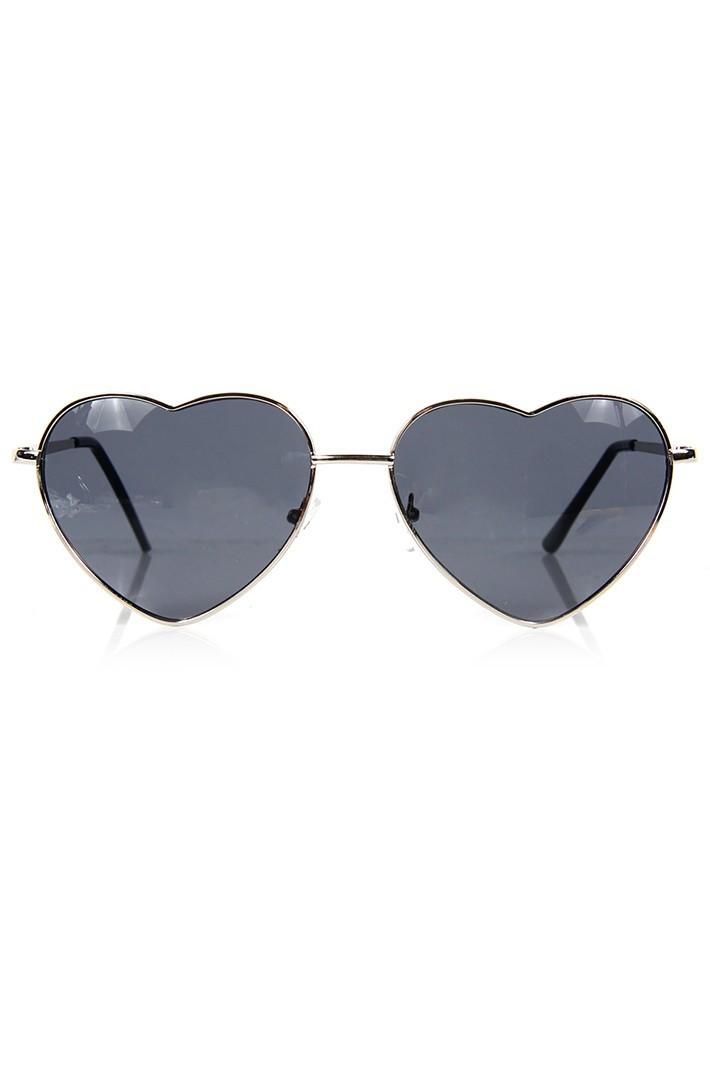 Heart Sunglasses - Silver