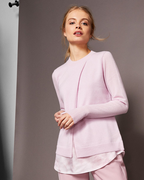 Ted Baker sweater silk pink