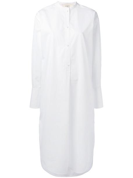 PORTS dress shirt dress women white cotton