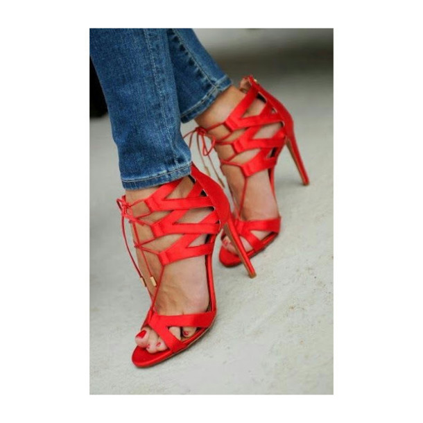 a6ad7601c45f shoes red red heels red shoes heels high heels strappy strappy heels open  toes stilettos love
