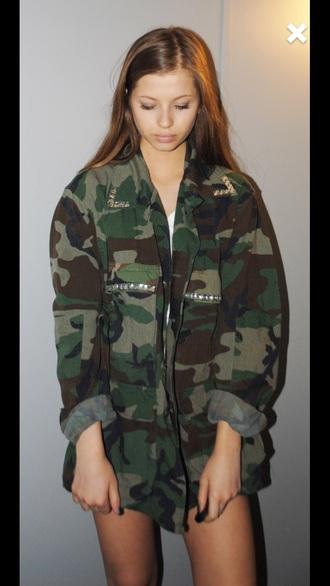 jacket camouflage tumblr tumblr outfit tumblr girl tumblr clothes tumblr shirt fashion creepers