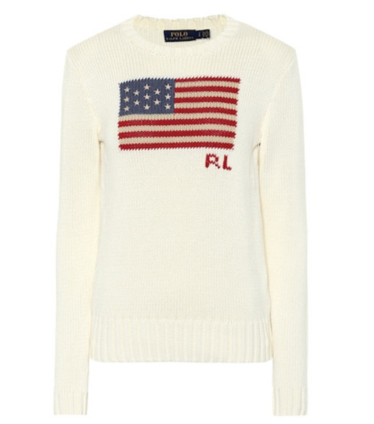 Polo Ralph Lauren Cotton intarsia sweater in white
