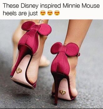 shoes minnie mouse high heels red high heel sandals