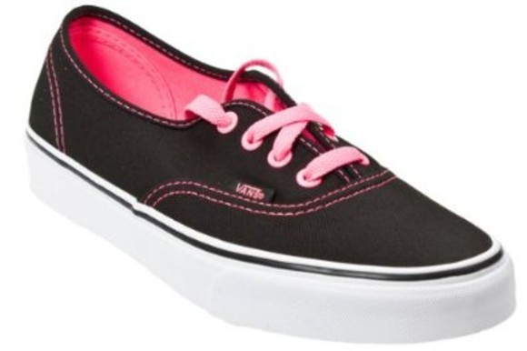 shoes vans vans authentic pink black