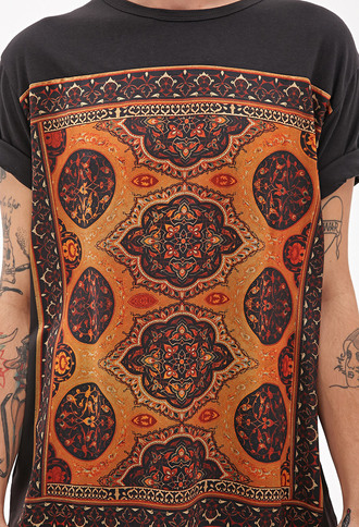 printed tee forever 21 moroccan