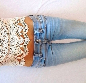 jeans blue girly beautiful fashion tights zip top