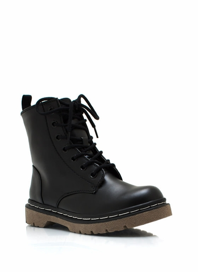 Combat-Zone-Boots BLACK DKGREEN WINE - GoJane.com
