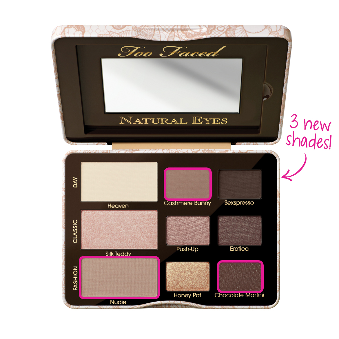 natural eye neutral eyeshadow palette too faced too faced. Black Bedroom Furniture Sets. Home Design Ideas