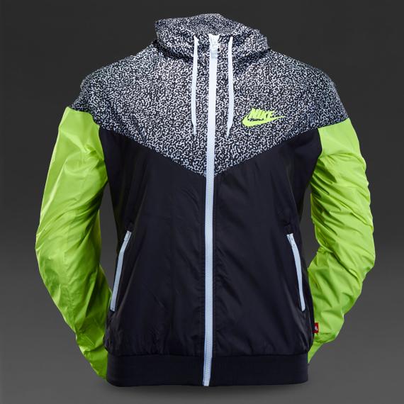 Creative Nike Wind Runner Colorblocked Jacket In Black WhiteBlack  Lyst
