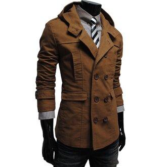 brown mens coat