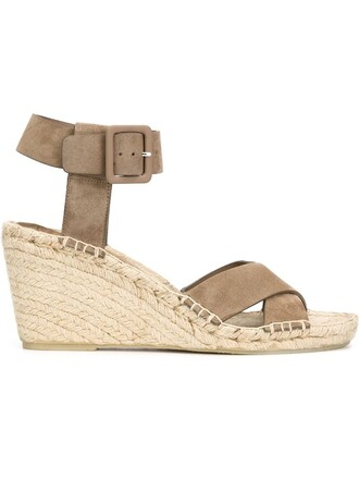 sandals wedge sandals grey shoes