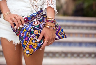 bag boho song of style clutch handbag hand bad purse nail polish jewels anarchy street